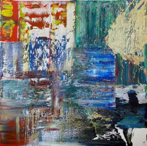 Art, Kunst, Öl, Oil, Gold, Spachteltechnik, Leinwand, canvas, squeegee, modern, Gemälde, artwork, studio, gallery
