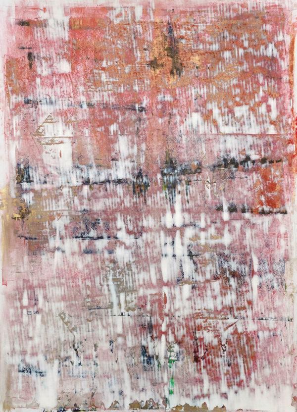 Art, Kunst, Öl, Gold, Oil, Bunt, color, Spachteltechnik, Papier, paper, squeegee, modern, Gemälde, artwork, studio, Atelier, gallery