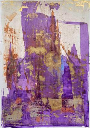 Art, Kunst, Öl, Oil, Gold, Bunt, color, Spachteltechnik, Papier, paper, squeegee, modern, Gemälde, artwork, studio, Atelier, gallery