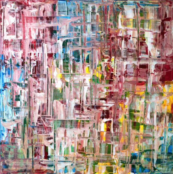 Art, Kunst, Acryl, acrylic, rhythm, Rhythmus, Bunt, color, Spachteltechnik, Leinwand, canvas, squeegee, modern, Gemälde, artwork, studio, Atelier, gallery