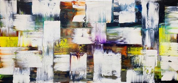 Art, Kunst, Öl, Oil, Bunt, weiß, white, color, Spachteltechnik, Leinwand, canvas, squeegee, modern, Gemälde, artwork, studio, Atelier, gallery