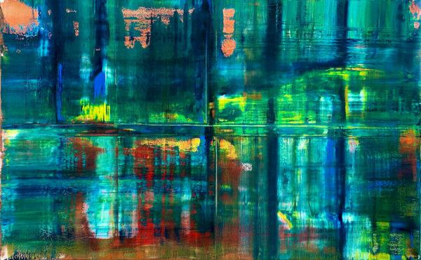 Art, Kunst, Öl, Oil, Bunt, color, See, Lake, Water, Wasser, Spachteltechnik, Leinwand, canvas, squeegee, modern, Gemälde, artwork, friendship, studio, Atelier, gallery