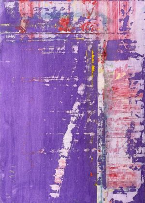 Art, Kunst, Öl, Oil, Bunt, color, Rahab, Story, Violetta, Spachteltechnik, Papier, paper, squeegee, modern, Gemälde, artwork, studio, Atelier, gallery, violett