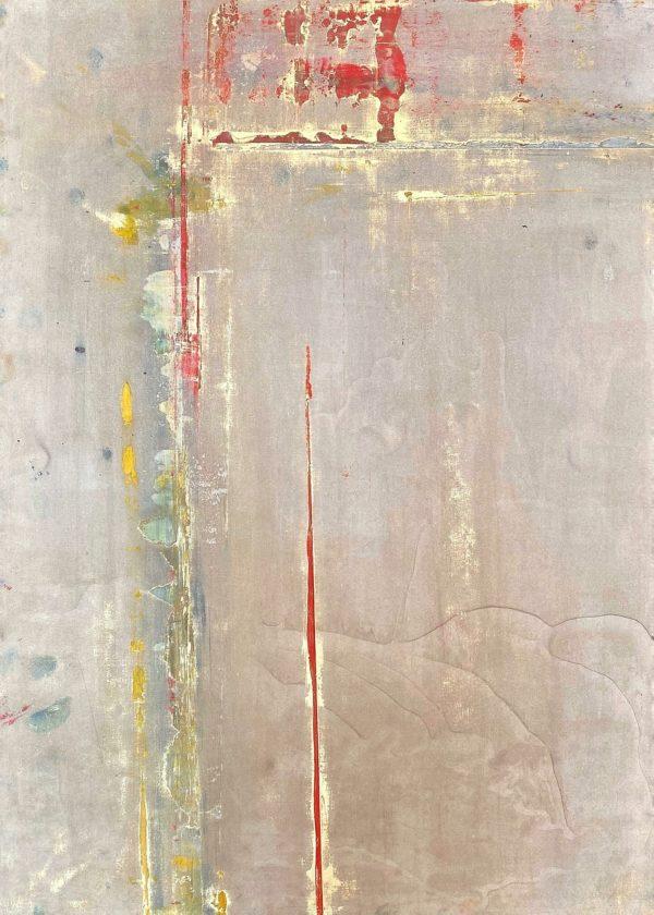 Art, Kunst, Öl, Oil, Bunt, color, Sabbat, sabbath, Spachteltechnik, Papier, paper, squeegee, modern, Gemälde, artwork, studio, Atelier, gallery, gold