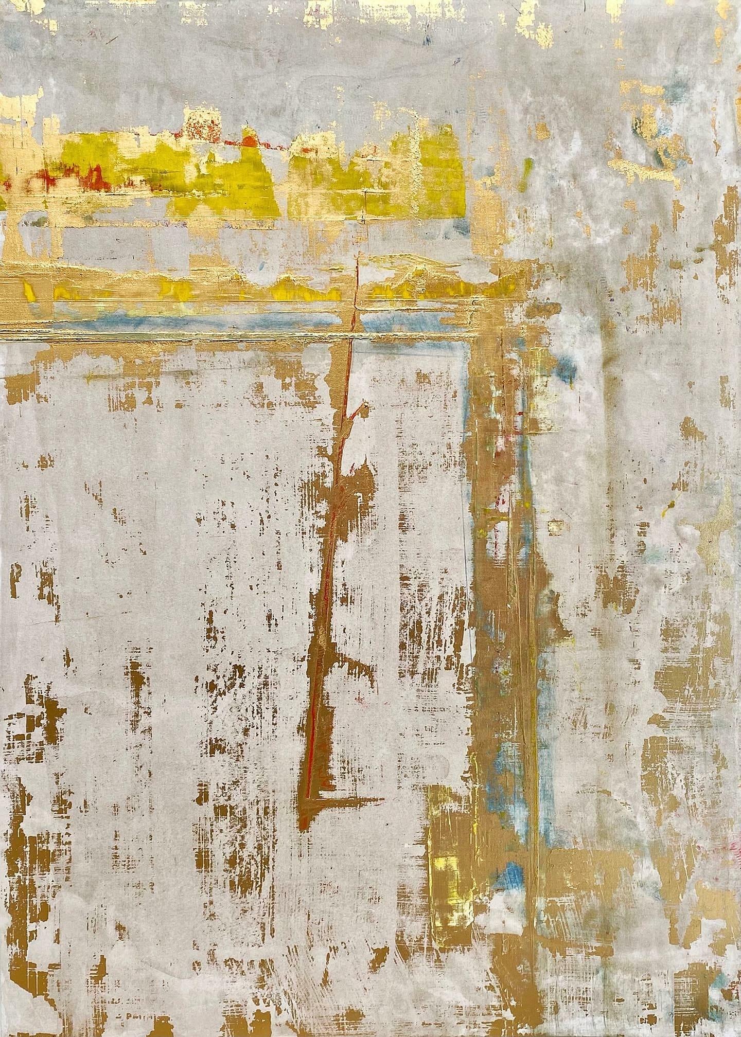 Art, Kunst, Heiland, Erlöser, savior, Retter, König, saviours, king, redeemer, monochrome, Öl, Oil, Bunt, color, Spachteltechnik, Papier, paper, squeegee, modern, Gemälde, artwork, studio, Atelier, gallery, gold