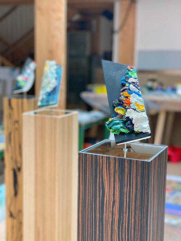 Art, Kunst, Öl, Oil, Spachteltechnik, stele, objectart, Objektkunst, squeegee, modern, Gemälde, artwork, studio, gallery
